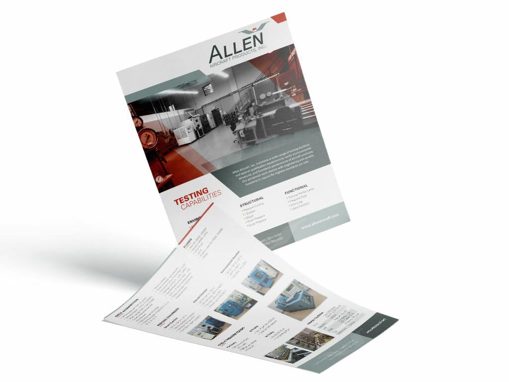 sell-sheet-design-allen-aircraft