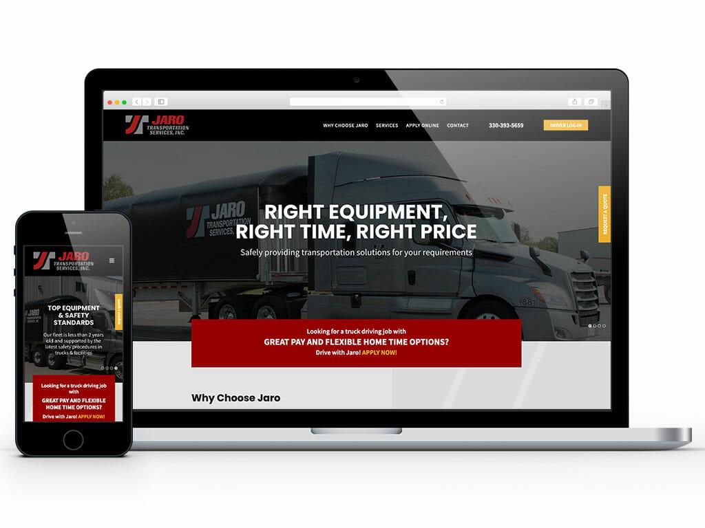 web-design-jaro-transportation-services
