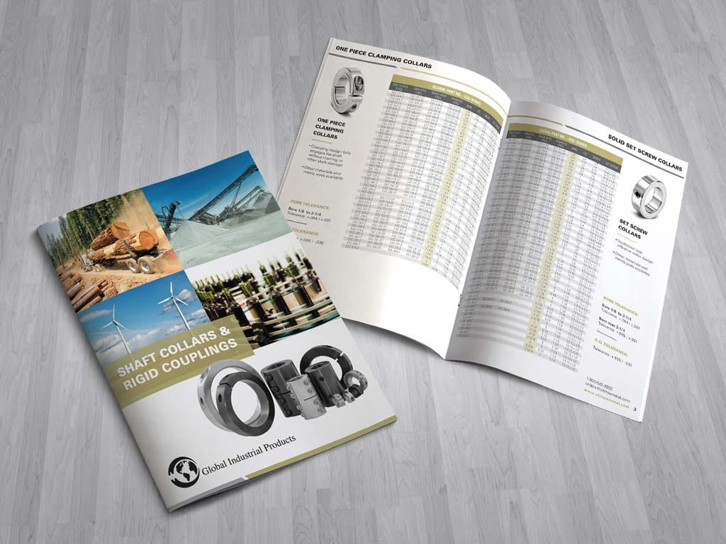 Industrial brochure design for Global Industrial Products